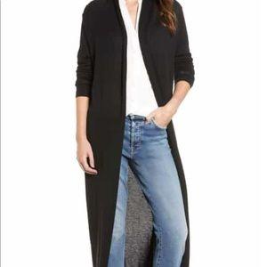 Zara Knit Longline Open Front Dark Gray Cardigan
